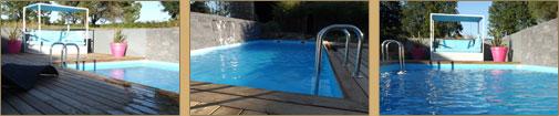 réalisation d'une piscine en bois